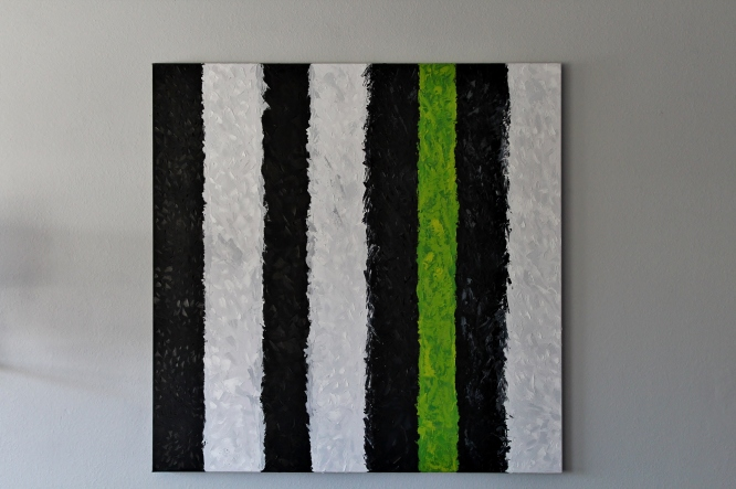 Textured stripes- oil painting